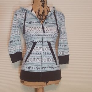 O'Neill Super cute wintery zip-up  hoodie